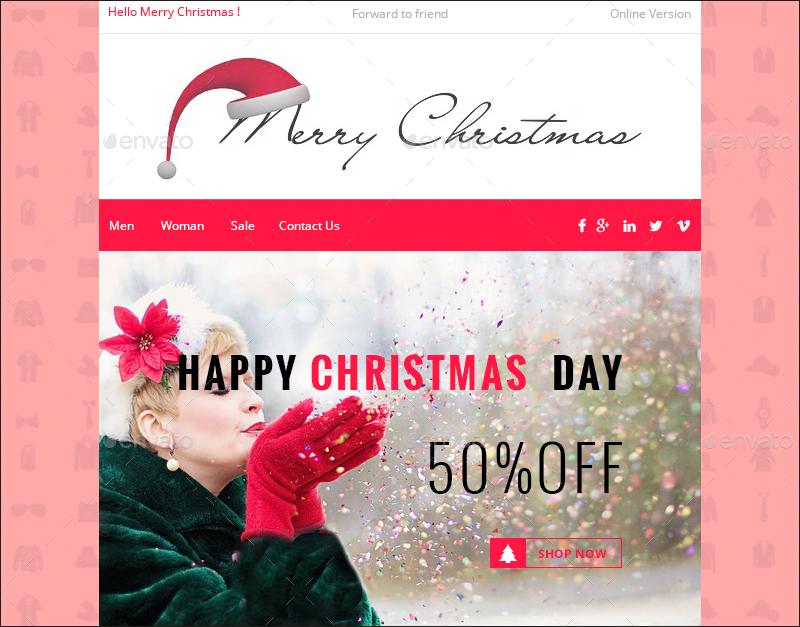 Responsive Christmas E-commerce Newsletter