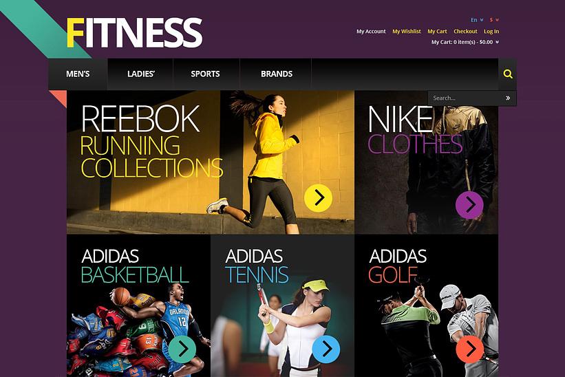 Responsive Fitness Store Magento Theme