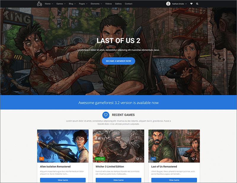 Responsive Gaming HTML Theme