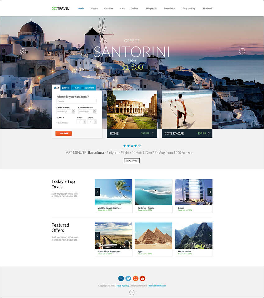Responsive Hotel Booking PHP Template