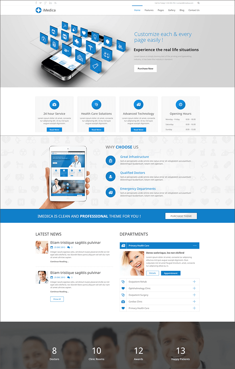 Responsive Medical & Health PHP Template