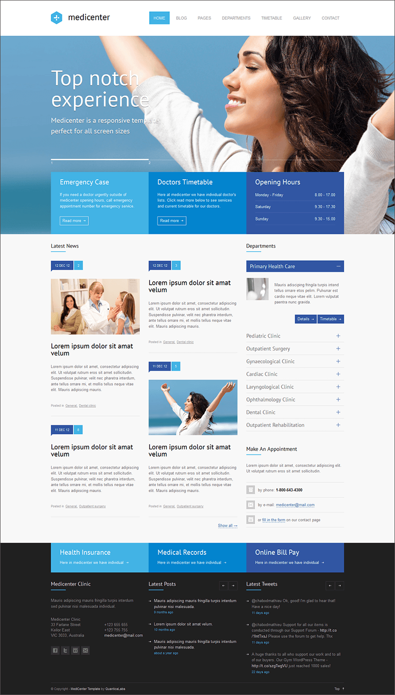 Responsive Medical Health PHP Template