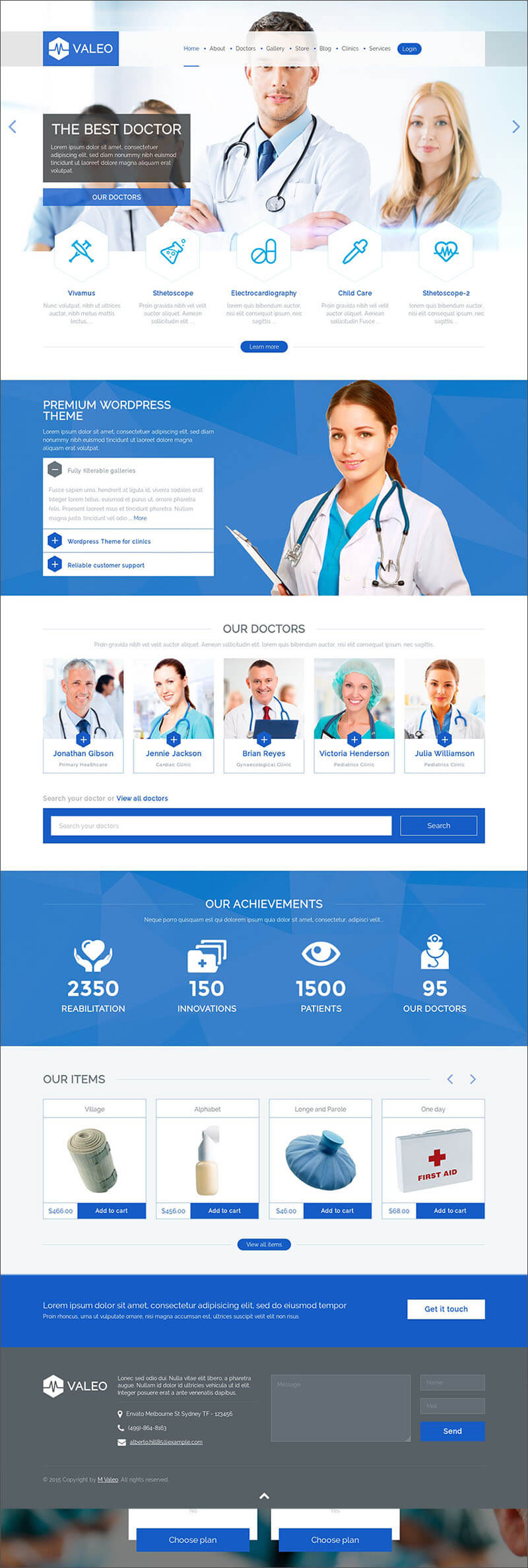 Responsive Medical PHP Template