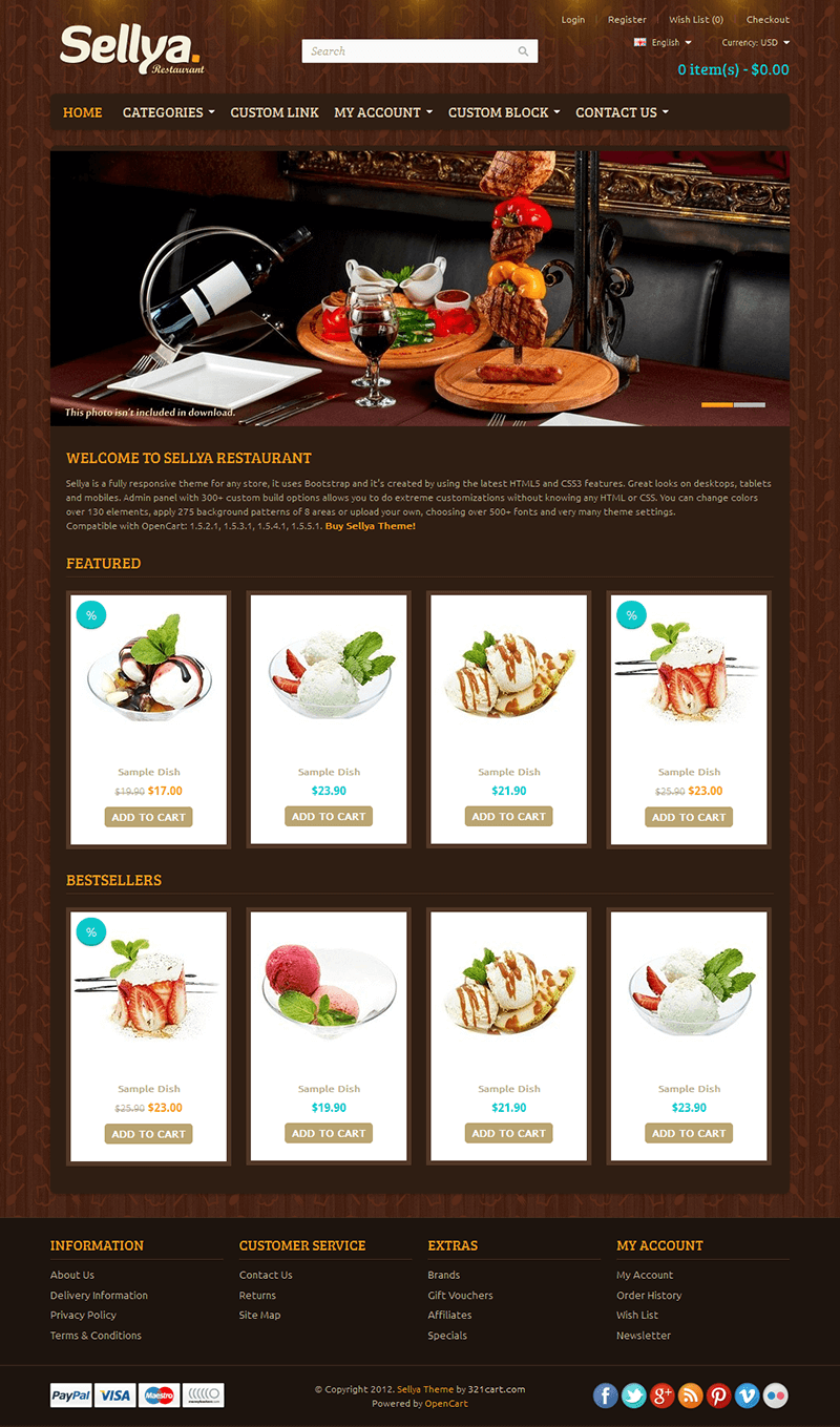 Opencart themes nulled