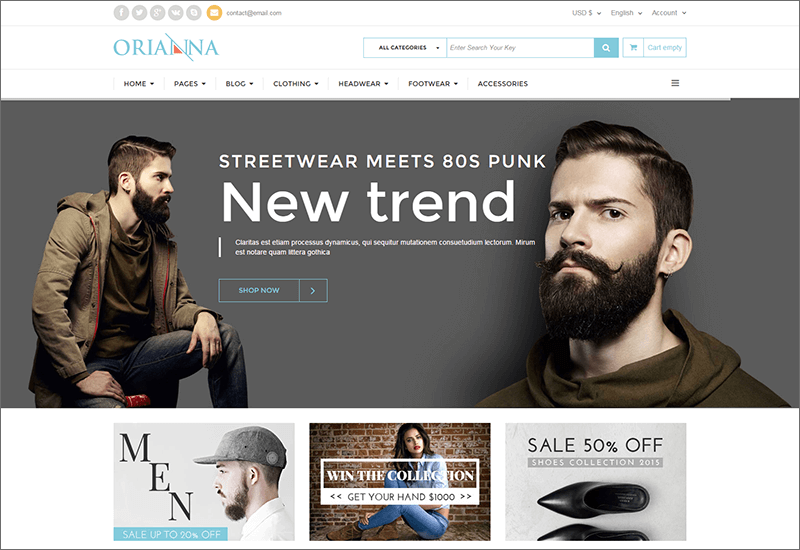 Responsive VirtueMart 3 Fashion Template
