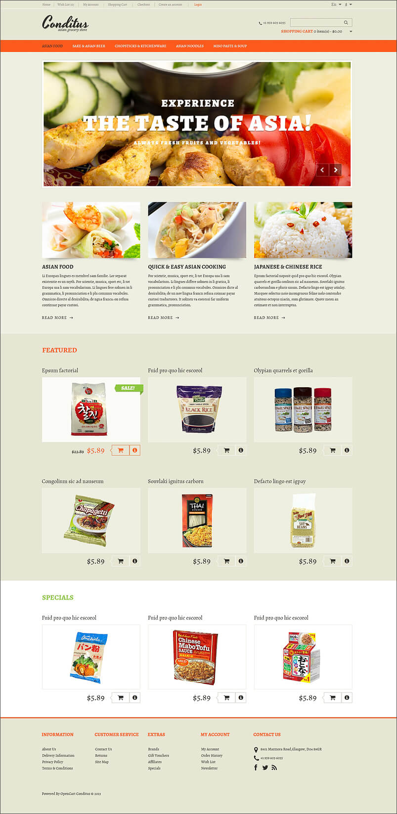 14 restaurant opencart templates themes free premium for Opencart template builder