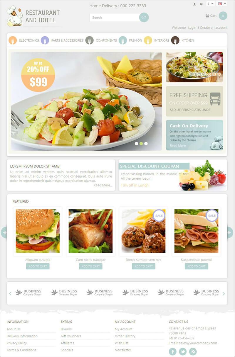 Restaurant OpenCart Theme