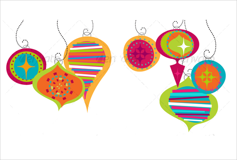 Retro Christmas Ornaments Design