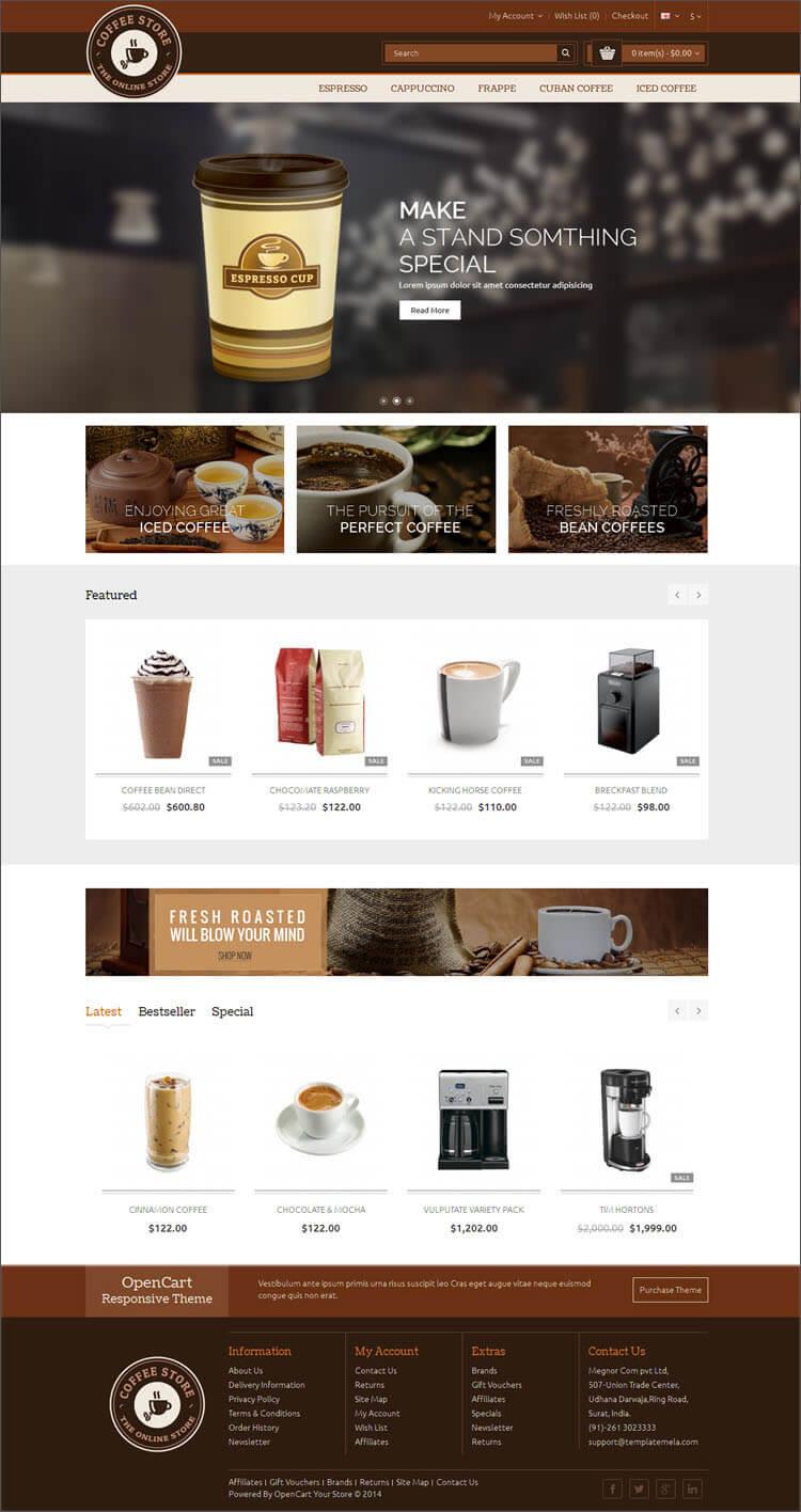 SEO Optimized Restaurant Opencart Theme