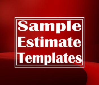 Sample Estimate Templates