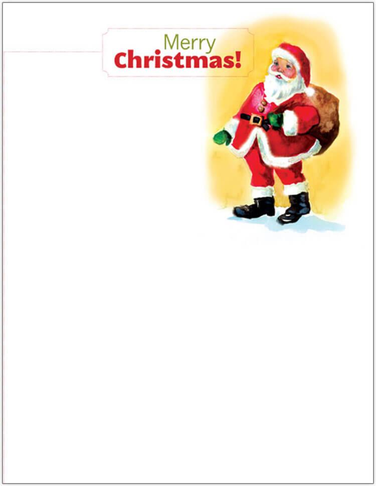 Santa Christmas Letter Template