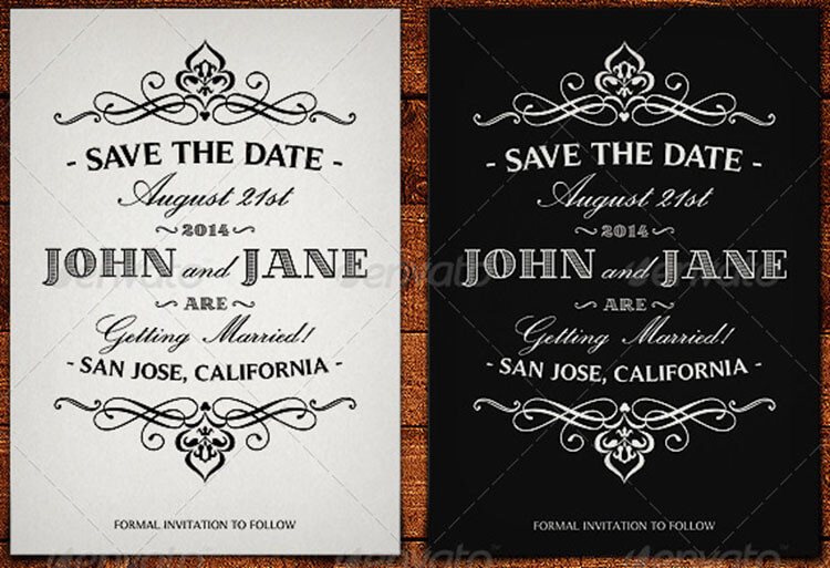 10 save the date card templates free word design ideas for Free vintage save the date templates