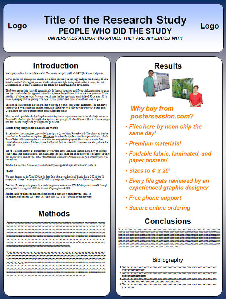 Scientific Poster Vertical Template