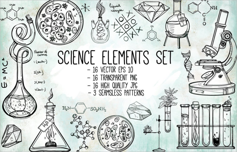 Scientific Research Poster Element Set