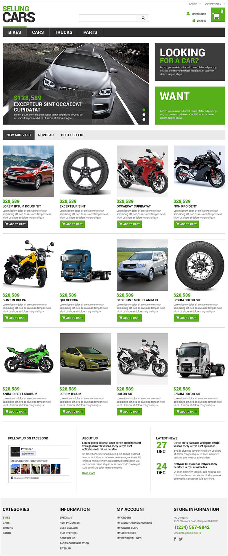 Selling Cars PrestaShop Theme