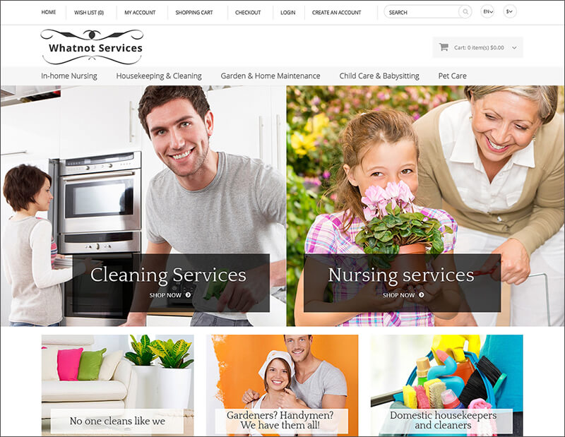 Services Business OpenCart Template