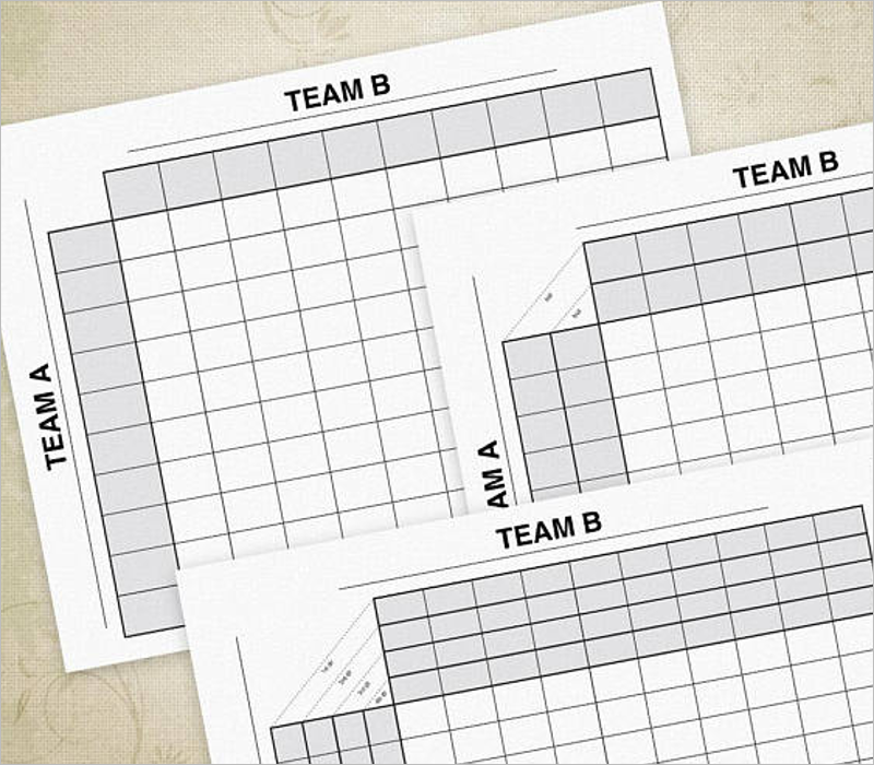 Set Of Football Square Template