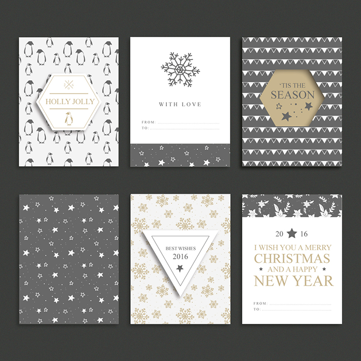 Set of Christmas brochures