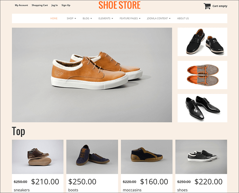 Shoe Store VirtueMart 3 Template