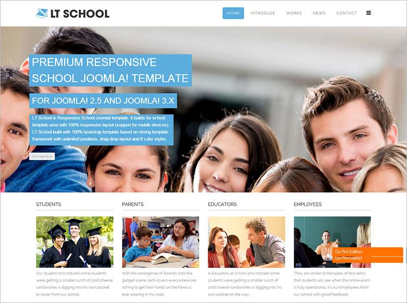 Single Page Education Joomla Template