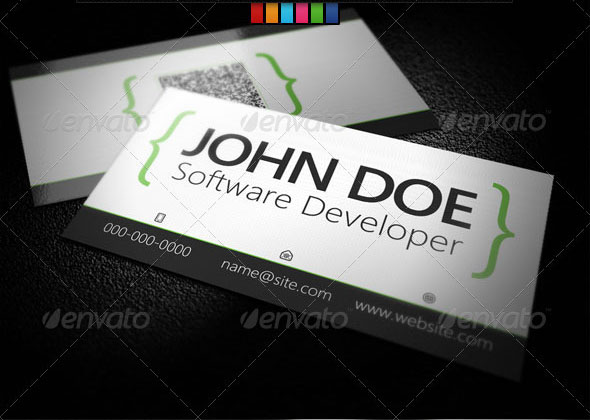 Software Developer Business Card