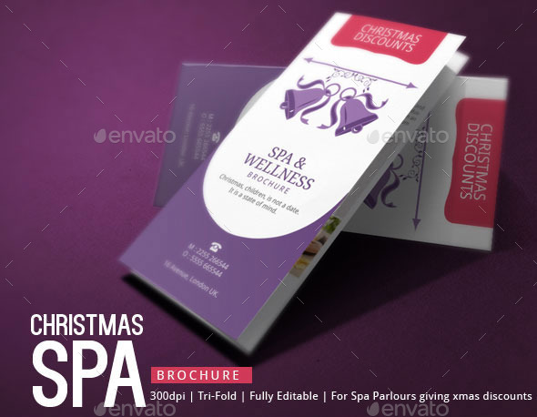 Spa Brochure Template Christmas Deals