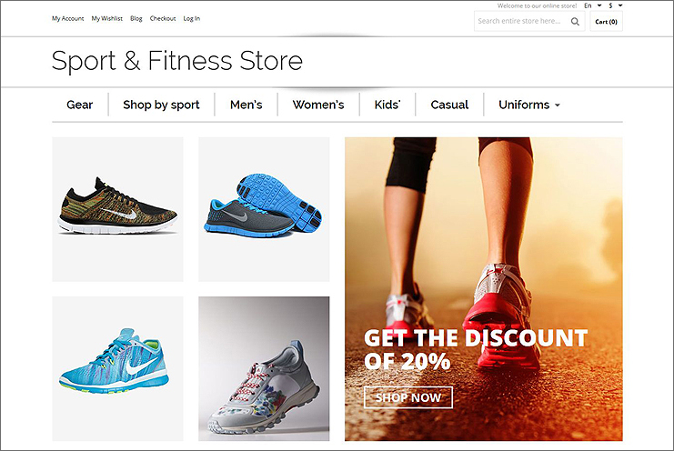 Sports Shop Magento Theme