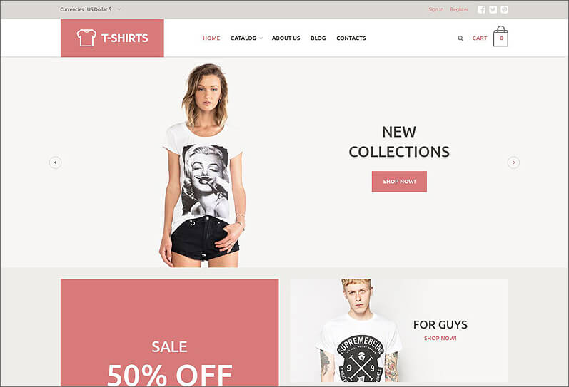 T-Shirt Store VirtueMart Template