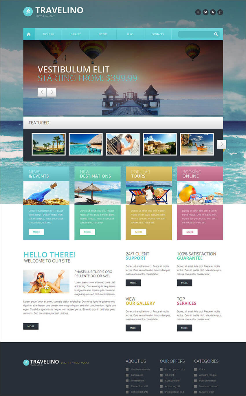Travel Agency Responsive PHP Theme