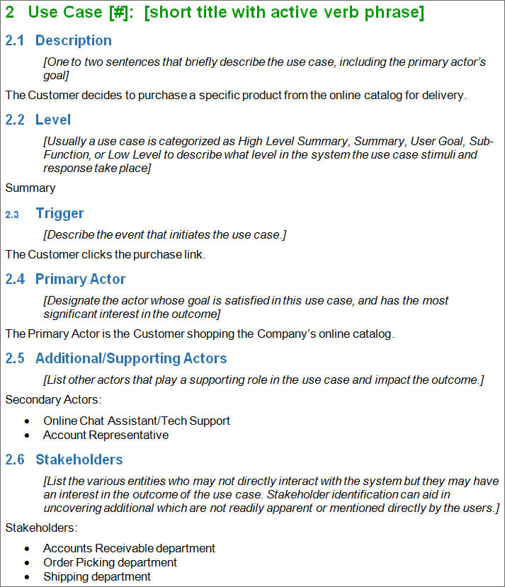 7 Use Case Template Examples Creative Template – Use Case Template