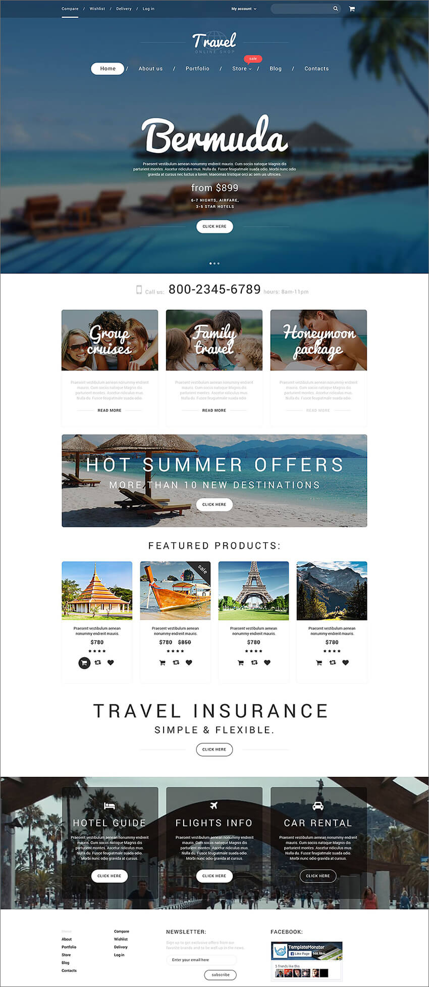 Vacation Agency WooCommerce PHP Theme