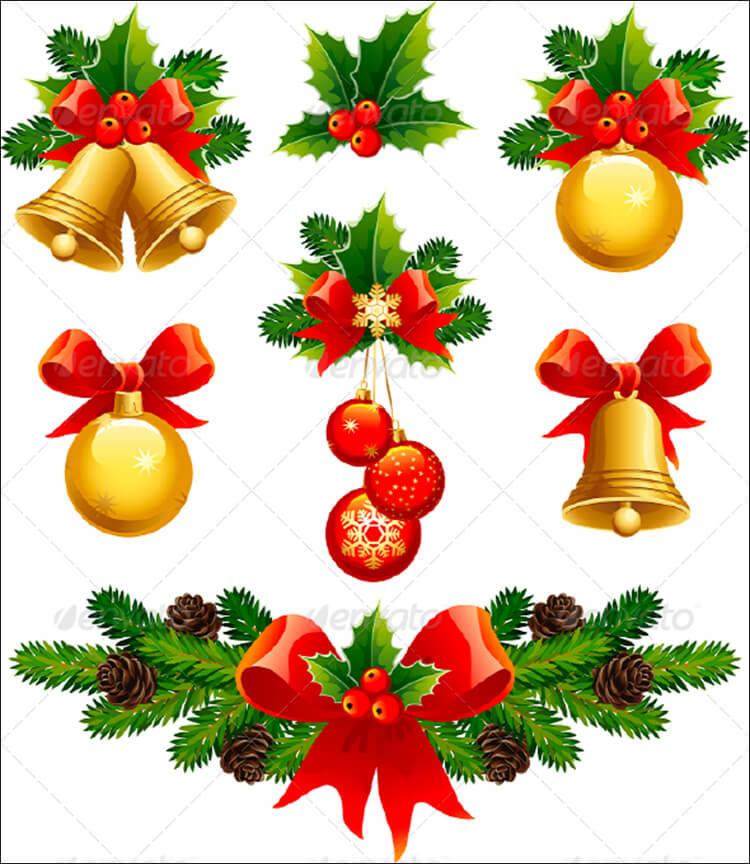 Vector Illustrations Christmas Ornaments