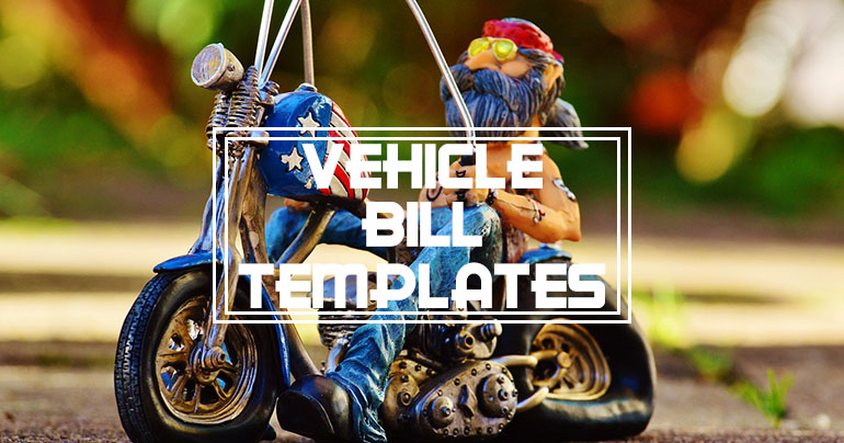 Vehicle Bill Of Sale Templates