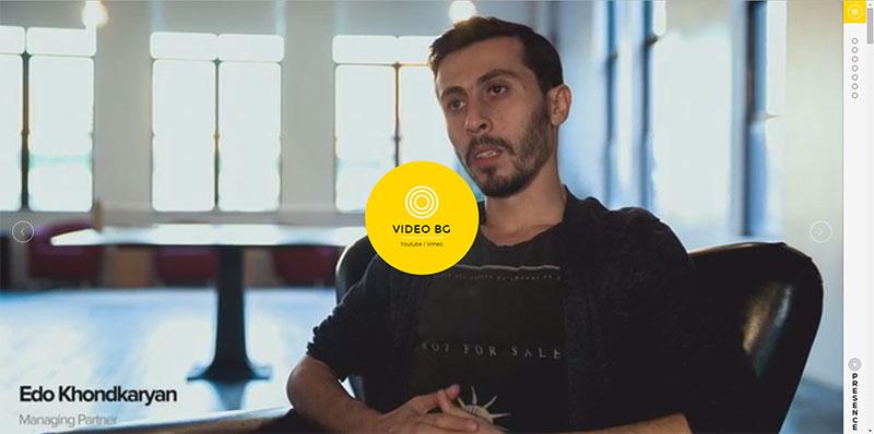Video Background Joomla Theme