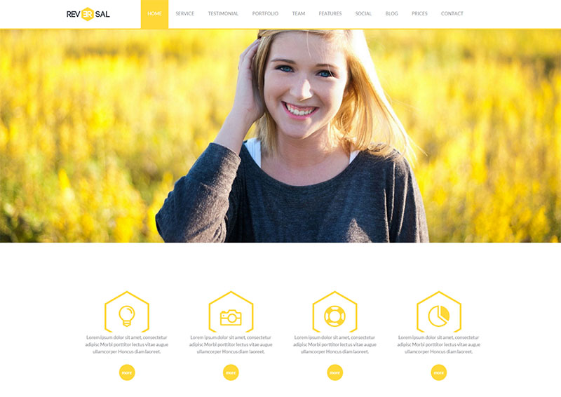 Video Background One Page Joomla Template