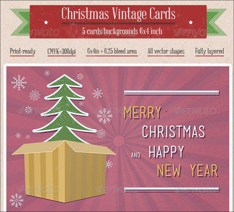Vintage Christmas Cards & Backgrounds