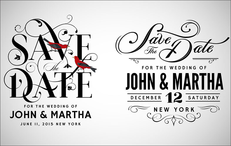 Vintage Save The Date Designs
