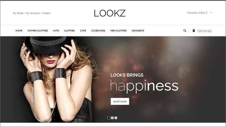 VirtueMart Parallax Fashion Template
