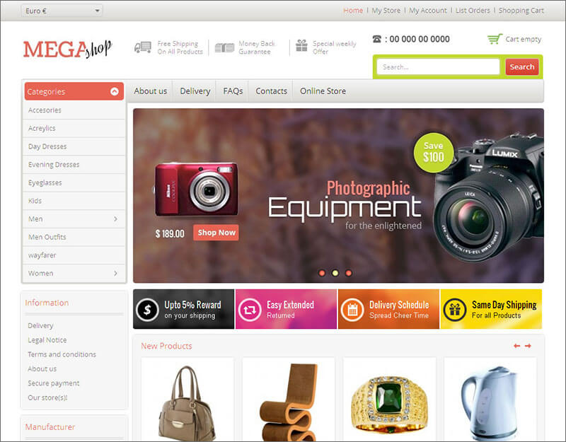 VirtueMart Responsive Ecommerce Theme
