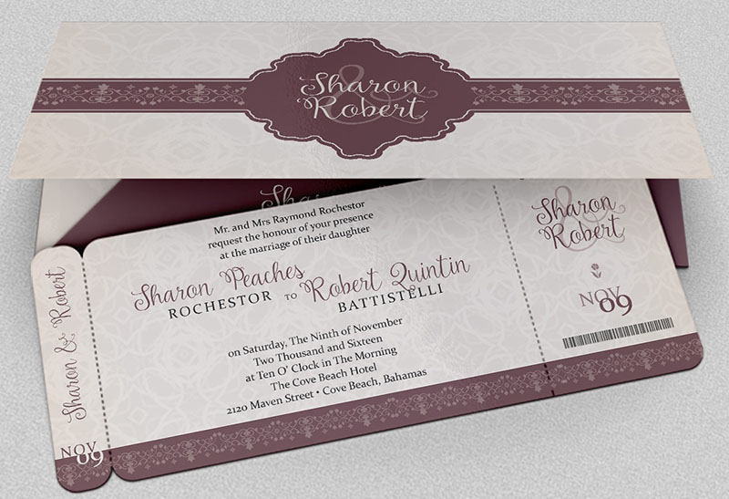 Wedding Boarding Pass Invitation