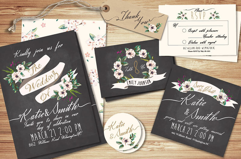 Wedding Invitation Suite Template
