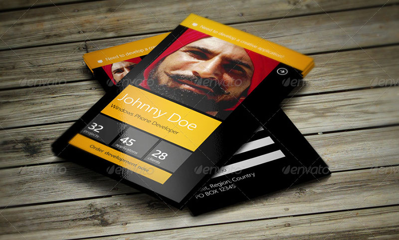 Developer Business Card Templates PSD Templates Creative Template - Windows business card template