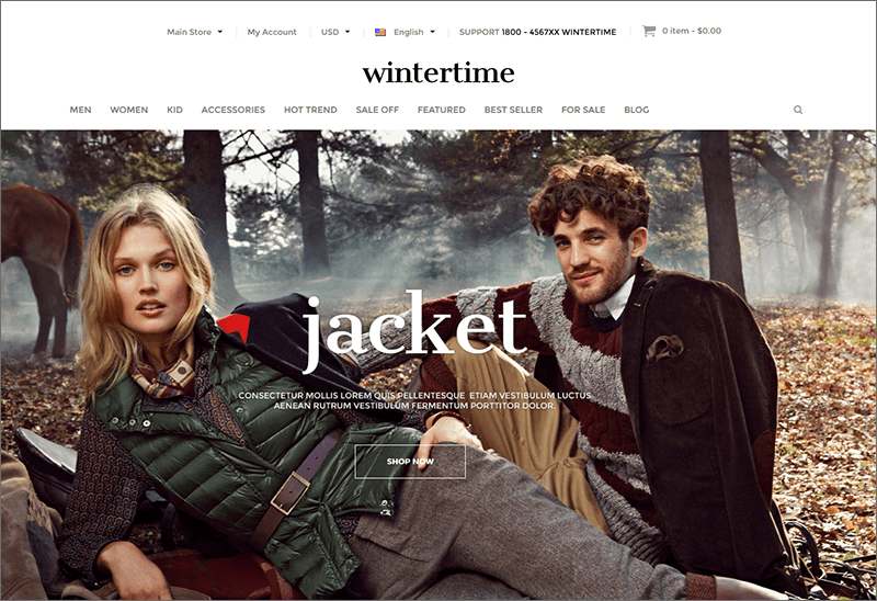 Winter Fashion Store Magento Theme