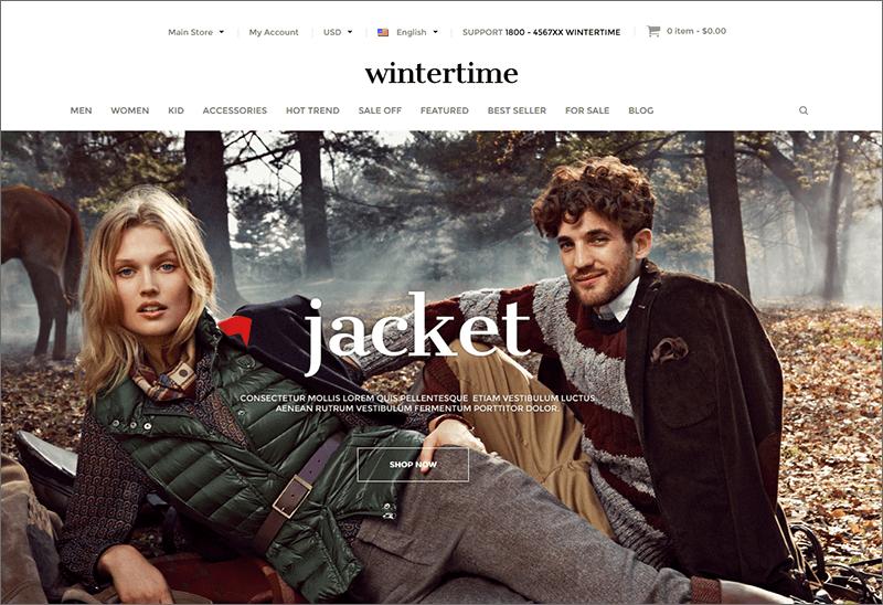 Winter Fashion Store Magento Theme