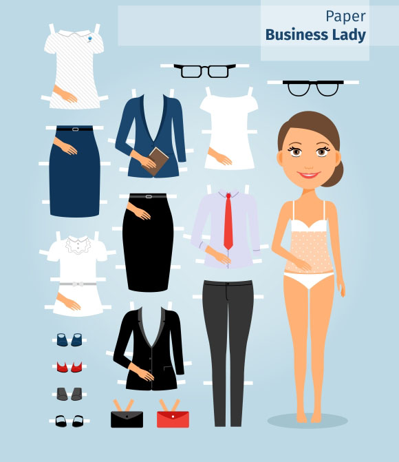 Woman Paper Doll Template