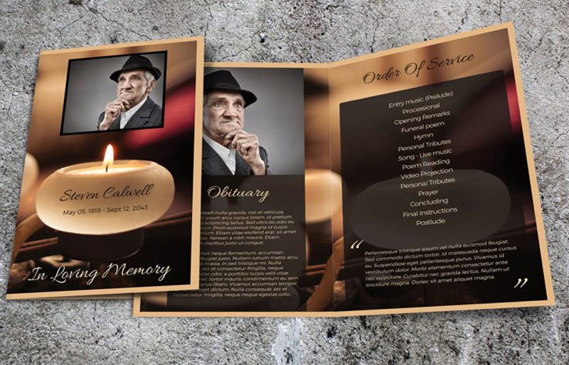 Obituary Template  Free Pdf Psd Format Download  Creative Template
