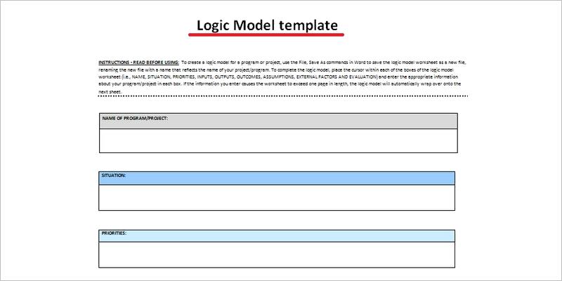 Word Logic Model Template