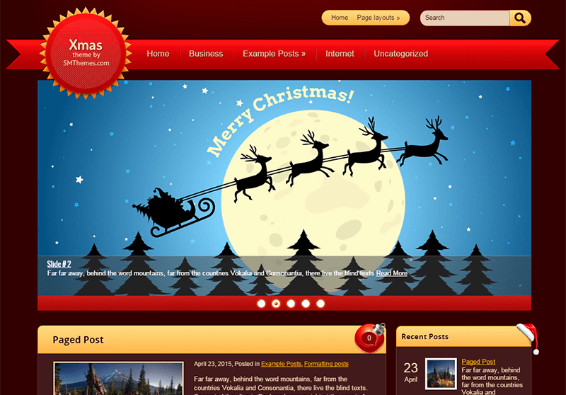 Amazing WordPress Themes for 2015 Christmas - Free and Premium Themes 01