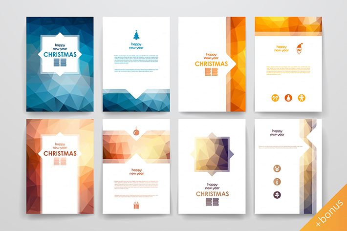 christmas brochure designs