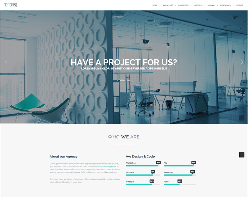one page responsive drupal theme